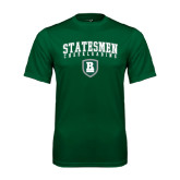 Performance Dark Green Tee-Cheerleading Arched Design