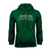 Dark Green Fleece Hood-Arched Richard Bland Statesmen