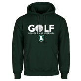 Dark Green Fleece Hood-Golf Ball Design