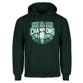 Dark Green Fleece Hood-2015 Basketball Champions