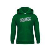 Youth Dark Green Fleece Hoodie-Statesmen - Richard Bland College