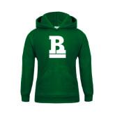 Youth Dark Green Fleece Hoodie-RB Stacked