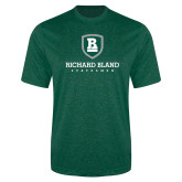 Performance Dark Green Heather Contender Tee-Richard Bland Statemen Stacked