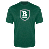 Performance Dark Green Heather Contender Tee-Shield
