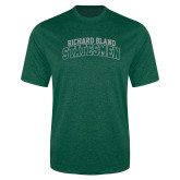 Performance Dark Green Heather Contender Tee-Arched Richard Bland Statesmen