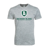 Next Level SoftStyle Heather Grey T Shirt-Richard Bland Statemen Stacked