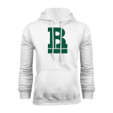 White Fleece Hoodie-RB Stacked
