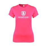 Ladies Performance Hot Pink Tee-Richard Bland Statemen Stacked