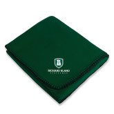 Dark Green Arctic Fleece Blanket-Richard Bland Statemen Stacked