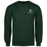 Dark Green Fleece Crew-Richard Bland Statemen Stacked