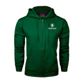 Dark Green Fleece Full Zip Hoodie-Richard Bland Statemen Stacked