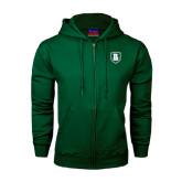 Dark Green Fleece Full Zip Hoodie-Shield
