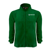 Fleece Full Zip Dark Green Jacket-Richard Bland Statemen Flat
