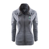 Ladies Sport Wick Stretch Full Zip Charcoal Jacket-Richard Bland Statemen Stacked