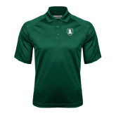 Dark Green Textured Saddle Shoulder Polo-Shield