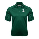 Dark Green Textured Saddle Shoulder Polo-RB Stacked