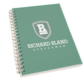 Clear 7 x 10 Spiral Journal Notebook-Richard Bland Statemen Stacked