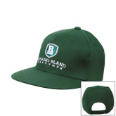 Dark Green OttoFlex Flat Bill Snapback Hat-Richard Bland Statemen Stacked