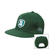 Dark Green OttoFlex Flat Bill Snapback Hat-Shield