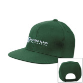 Dark Green OttoFlex Flat Bill Snapback Hat-Richard Bland Statemen Flat