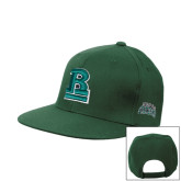 Dark Green OttoFlex Flat Bill Snapback Hat-RB Stacked