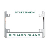 Metal Motorcycle License Plate Frame in Chrome-Statesmen