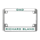 Metal Motorcycle License Plate Frame in Chrome-Dad