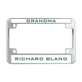 Metal Motorcycle License Plate Frame in Chrome-Grandma