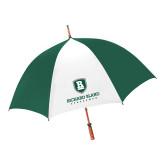 62 Inch Forest Green/White Umbrella-Richard Bland Statemen Stacked