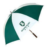 62 Inch Forest Green/White Umbrella-Mom