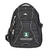 High Sierra Swerve Black Compu Backpack-Richard Bland Statemen Stacked
