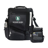 Momentum Black Computer Messenger Bag-Richard Bland Statemen Stacked