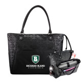 Sophia Checkpoint Friendly Black Compu Tote-Richard Bland Statemen Stacked