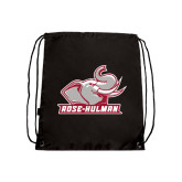 Black Drawstring Backpack-Rosie with Rose-Hulman