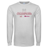 White Long Sleeve T Shirt-Mens Tennis Champions