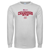 White Long Sleeve T Shirt-2018 Mens Cross Country Champions