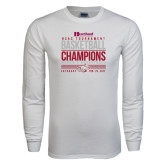 White Long Sleeve T Shirt-HCAC Tournament Champions - Womens Basketball Stacked