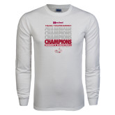 White Long Sleeve T Shirt-2017 HCAC Tournament Champions Repeating - Womens Basketball