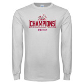 White Long Sleeve T Shirt-Mens Swimming and Diving Champions