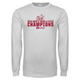 White Long Sleeve T Shirt-Mens Track and Field Champions