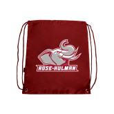 Cardinal Drawstring Backpack-Rosie with Rose-Hulman