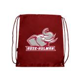 Cardinal Drawstring Backpack-Rosie with Rose-Hulman