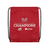 Cardinal Drawstring Backpack-Mens Tennis Champions