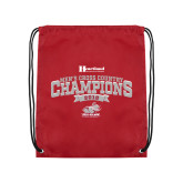 Cardinal Drawstring Backpack-2018 Mens Cross Country Champions