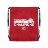 Cardinal Drawstring Backpack-2018 HCAC Volleyball Champions