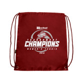 Cardinal Drawstring Backpack-Heartland Conference Tournament Champions Womens Tennis 2016