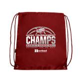Cardinal Drawstring Backpack-HCAC Tournament Champs - Womens Basketball 2017 Half Ball