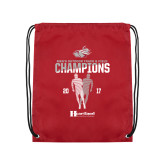 Cardinal Drawstring Backpack-2017 HCAC Mens Outdoor Track and Field Champions
