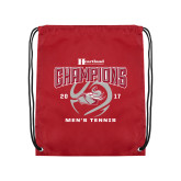 Cardinal Drawstring Backpack-2017 HCAC Mens Tennis Champions