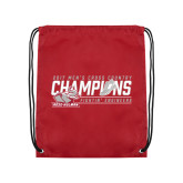 Cardinal Drawstring Backpack-2017 Mens Cross Country Champions
